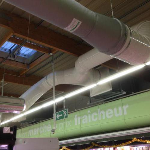 Chauffage par récupération d'énergie sur centrale frigorifique en GMS